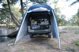 Van awning tent   Vandwellers Blog